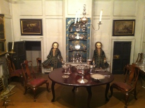 The footmen wait in the Dining Room of Uppark's Dolls House