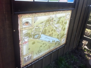 A new Adventurer's Map of the Vyne's formal gardens, taking inspiration from Tolkien's maps,
