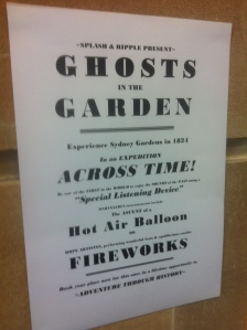 Ghosts in the Garden playbill